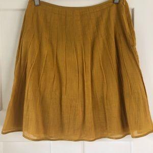 J. Crew mustard cotton skirt. Size 2